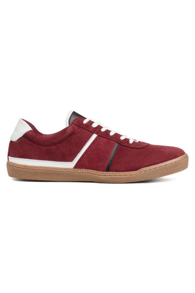 Suede trainers - Dark red - Men | H&M CN