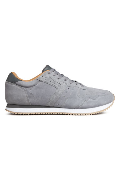 Suede trainers - Light grey - Men | H&M CN