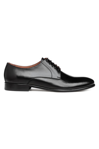 Leather Derby shoes - Black - Men | H&M CN