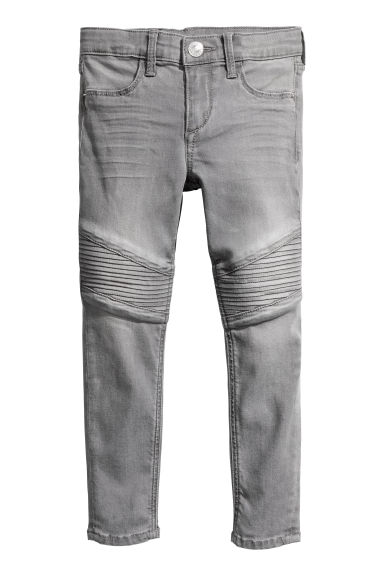 Skinny fit Biker jeans - Denim grey - Kids | H&M CN