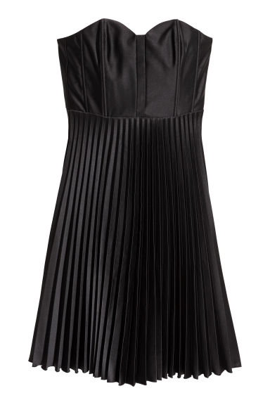 Pleated dress - Black - Ladies | H&M CN