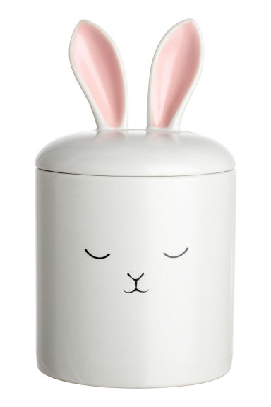 Porcelain box with ears - White - Home All | H&M GB