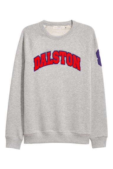 Sweatshirt with raglan sleeves - Grey marl - Men | H&M