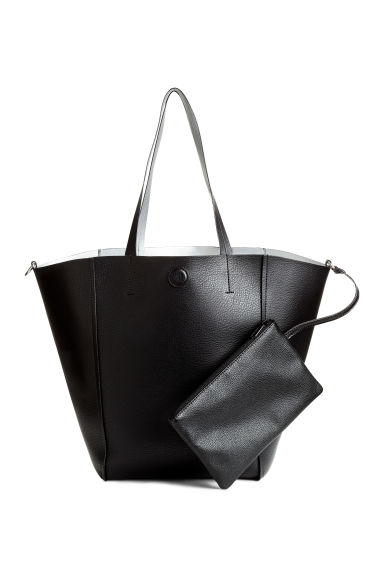 Reversible shopper with clutch - Black/Silver - Ladies | H&M CN