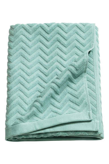 Jacquard-patterned bath towel - Turquoise - Home All | H&M GB