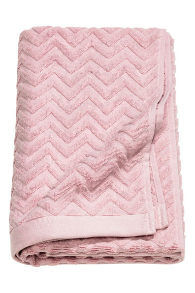 Jacquard-patterned bath towel - Light pink - Home All | H&M IE