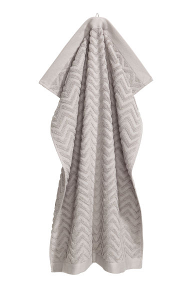 Jacquard-patterned towel - Light grey - Home All | H&M IE