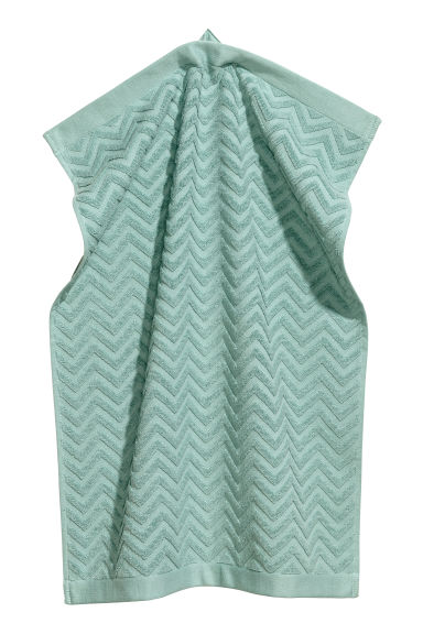 Jacquard-patterned hand towel - Turquoise - Home All | H&M IE