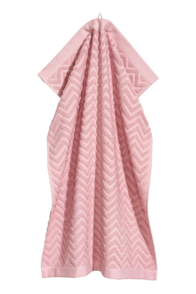 Jacquard-patterned hand towel - Light pink - Home All | H&M IE