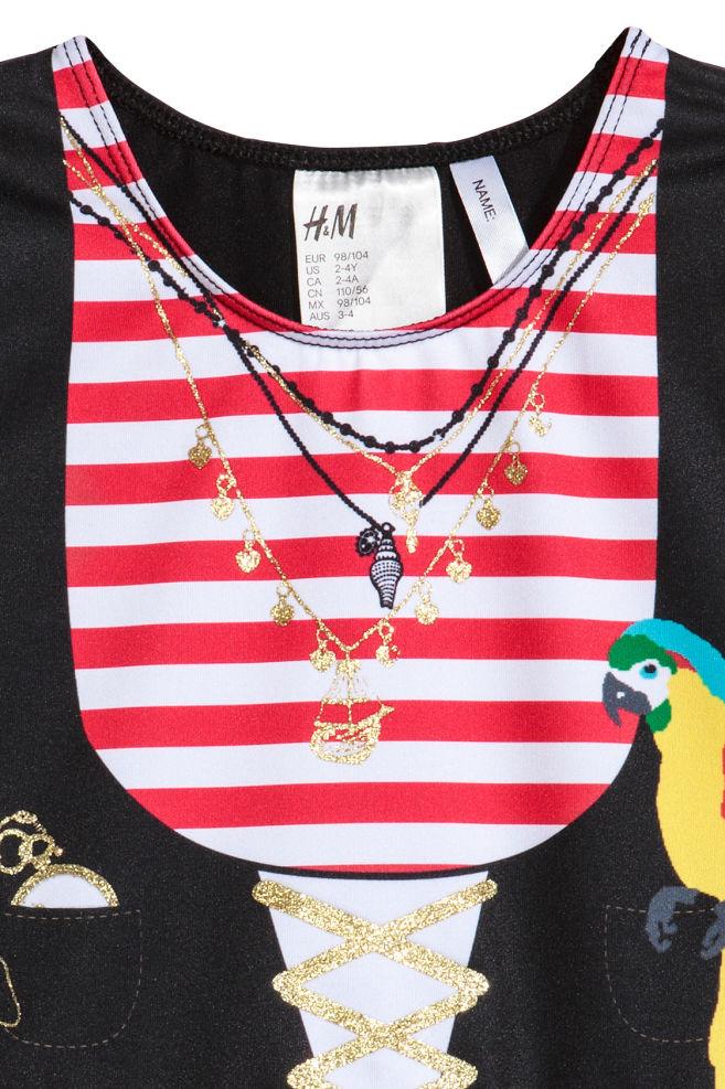 Pirátske šaty - červená pirát - DETI  12f2f47992f