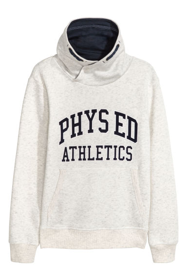 Funnel-collar sweatshirt - Light grey marl -  | H&M CN