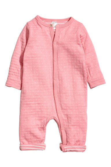 Cotton all-in-one pyjamas - Pink/White spotted -  | H&M CN