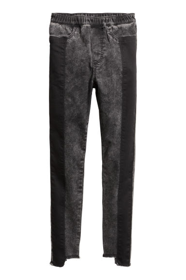 Treggings - Black washed out -  | H&M
