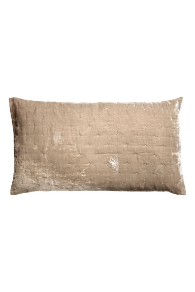 Fluwelen kussenhoes - Beige - HOME | H&M BE