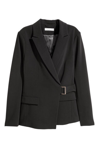 Wrapover jacket - Black -  | H&M GB