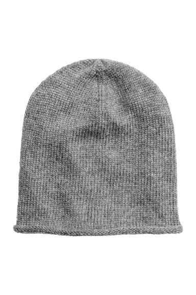 Knitted hat - Grey - Ladies | H&M GB