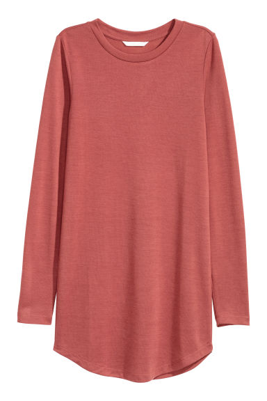Long-sleeved jersey top - Rust -  | H&M CN