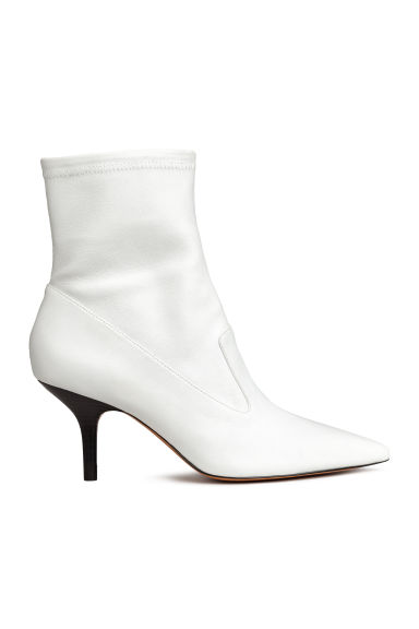 Leather ankle boots - White - Ladies | H&M GB