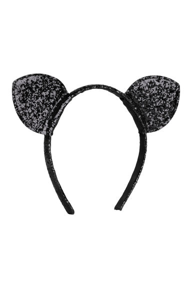 Alice band with ears - Black/Sequins - Ladies | H&M CN
