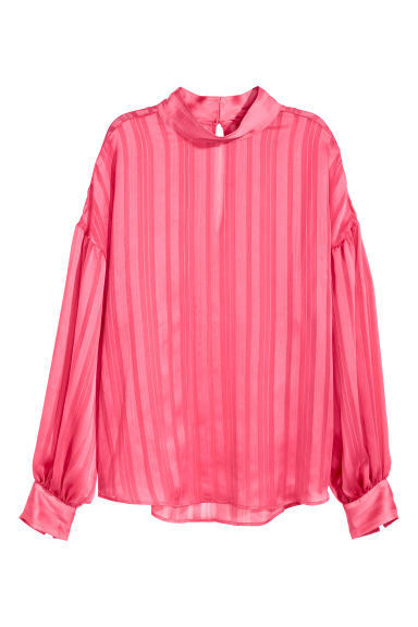 Balloon-sleeved blouse - Pink - Ladies | H&M