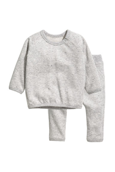 Sweatshirt and joggers - Grey marl/Nepped - Kids | H&M CN