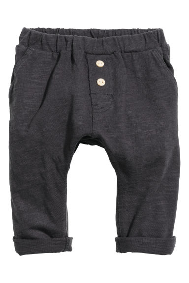 Slub jersey trousers - Dark grey -  | H&M CN