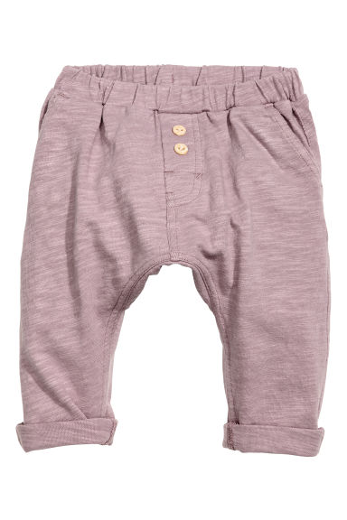 Slub jersey trousers - Heather purple -  | H&M CN