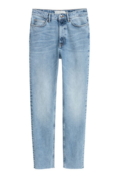 Slim Ankle High Jeans - Light denim blue - Ladies | H&M GB