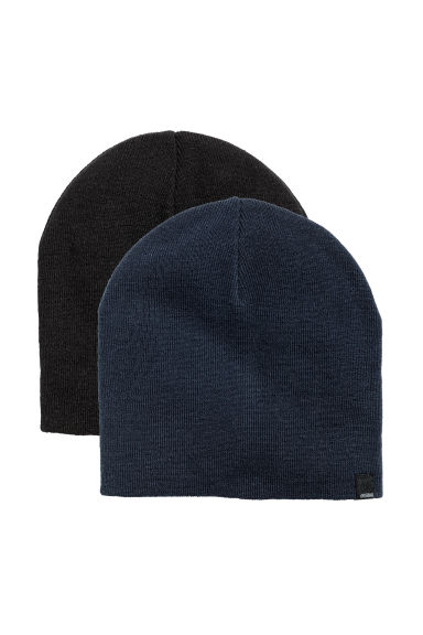 2-pack hats - Black/Dark blue - Kids | H&M CN