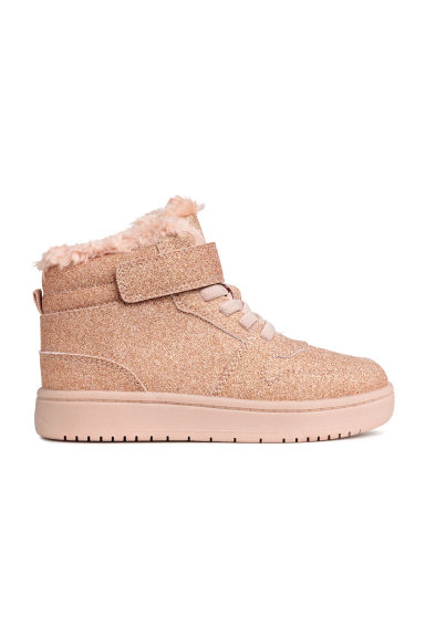 Warm-lined hi-tops - Pink/Glittery - Kids | H&M CN