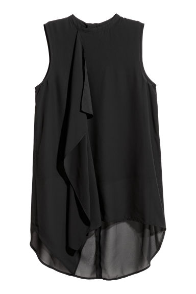 Chiffon top - Black - Ladies | H&M GB