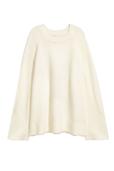 Knitted jumper - White -  | H&M