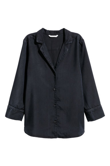 Camicia in lyocell - Nero - DONNA | H&M IT