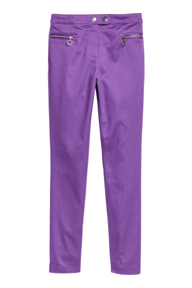 Stretch trousers - Purple -  | H&M IE