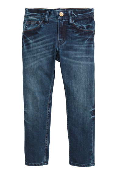 Extra sterke Tapered fit Jeans - Donker denimblauw -  | H&M BE