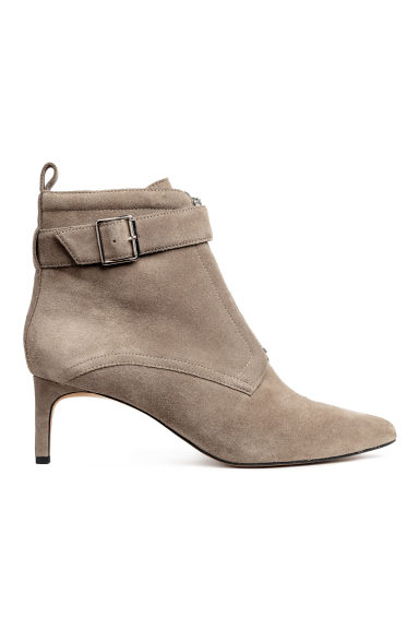 Suede kitten-heel boots - Mole - Ladies | H&M IE