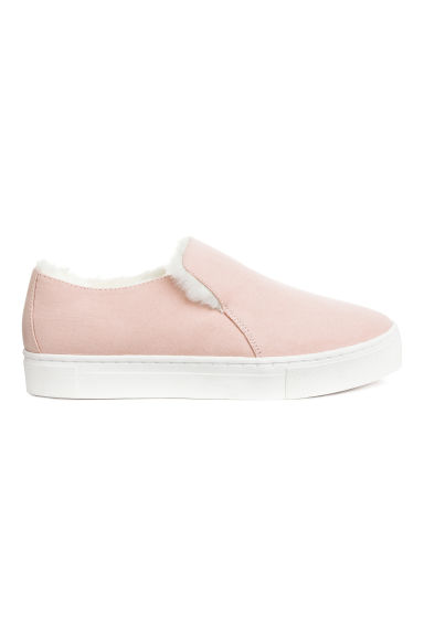 Warm-lined slip-on trainers - Light pink -  | H&M