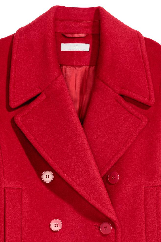 ... Manteau en laine mélangée - Rouge - FEMME   H M ... fd8c700a6775