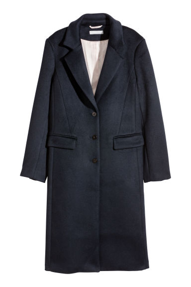Wool-blend coat - Dark blue - Ladies | H&M