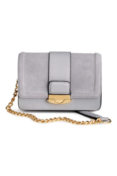 Bag with suede details - Light grey - Ladies | H&M GB
