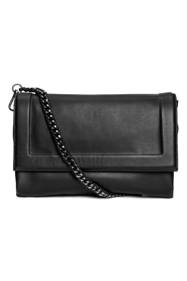 Leather shoulder bag - Black -  | H&M