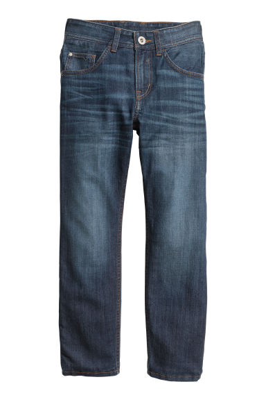 Relaxed Tapered Fit Jeans - Donker denimblauw -  | H&M NL
