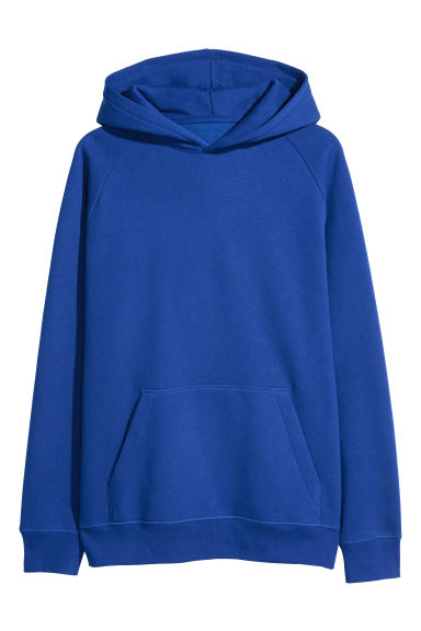 Hooded top with raglan sleeves - Cobalt blue -  | H&M