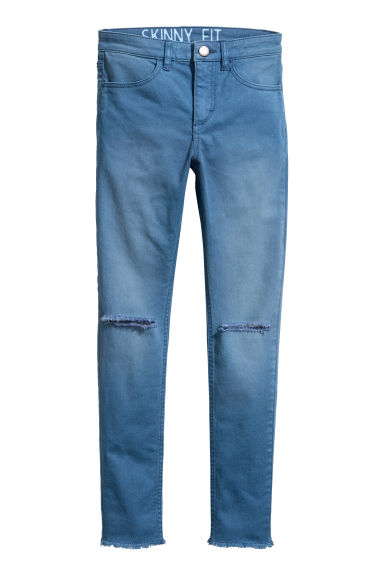 Pantalon stretch Coupe ample - Bleu -  | H&M FR