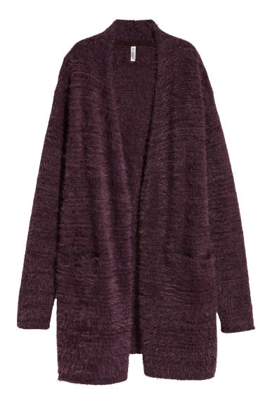Long cardigan - Dark purple -  | H&M