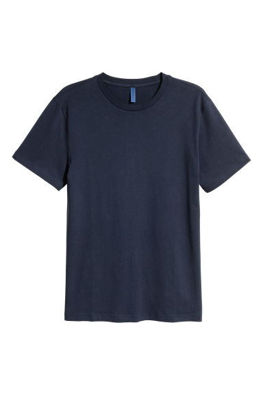 Round-necked T-shirt - Dark blue -  | H&M CN