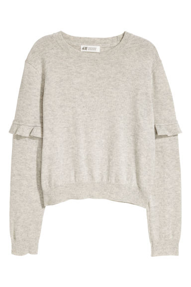 Cashmere-blend jumper - Light grey - Kids | H&M GB