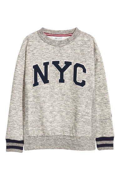Sweat-shirt avec motif - Gris chiné - ENFANT | H&M BE