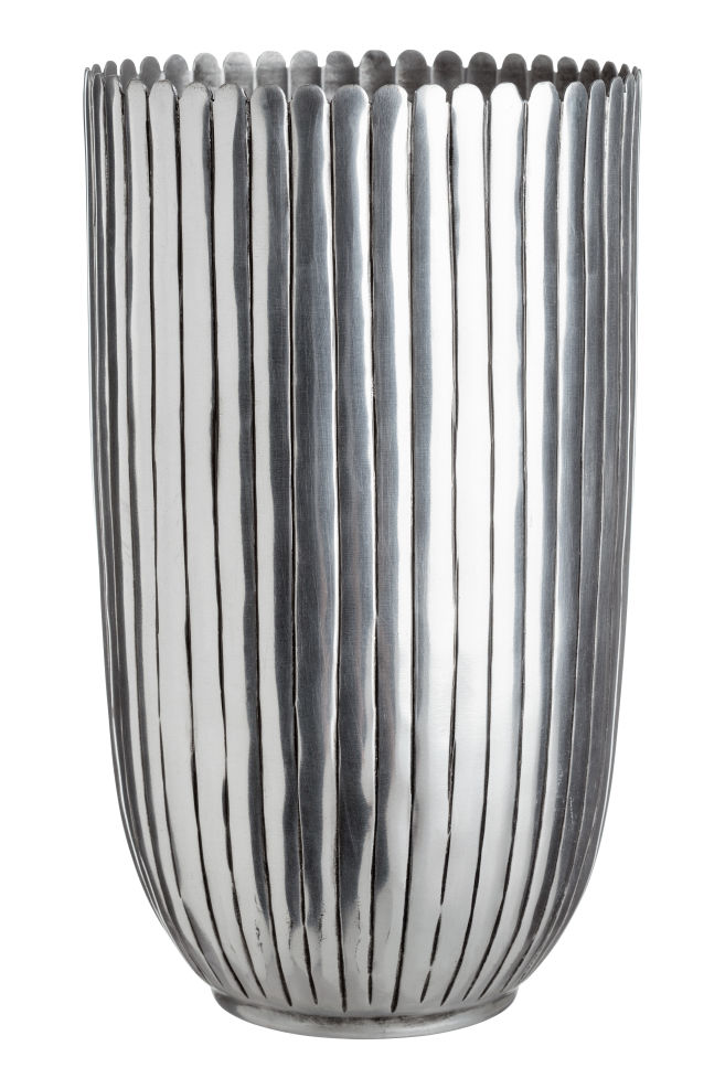 Tall Metal Vase Silver Coloured Home All Hm Us