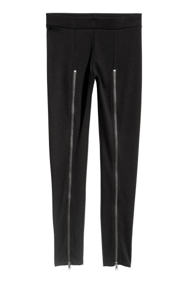 Leggings med dragkedja - Svart -  | H&M SE